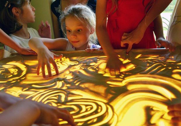 песочное шоу для детей